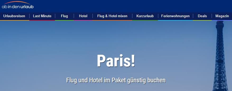 Flug und Hotel Angebote nach Paris Suchen und Buchen Sie hier