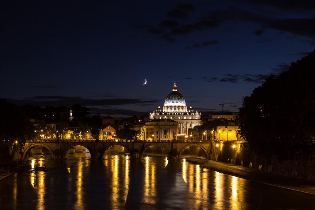 Rom Trastevere bei Nacht